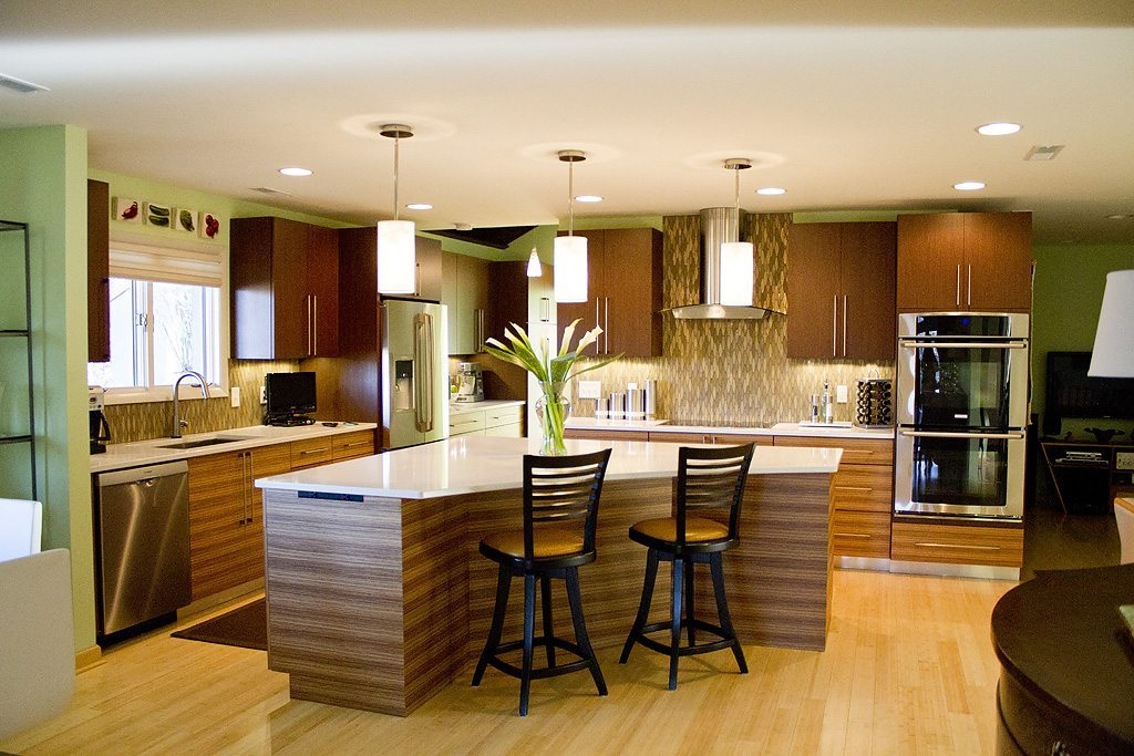 Mouser Custom Cabinetry with Wenge & Zebrawood