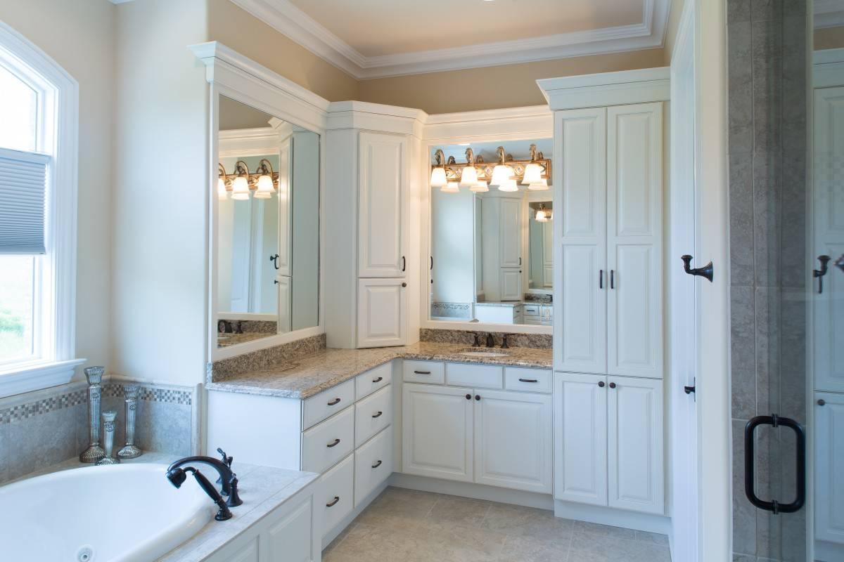 Showplace Master Bathroom In Soft Cream Standard Kitchen