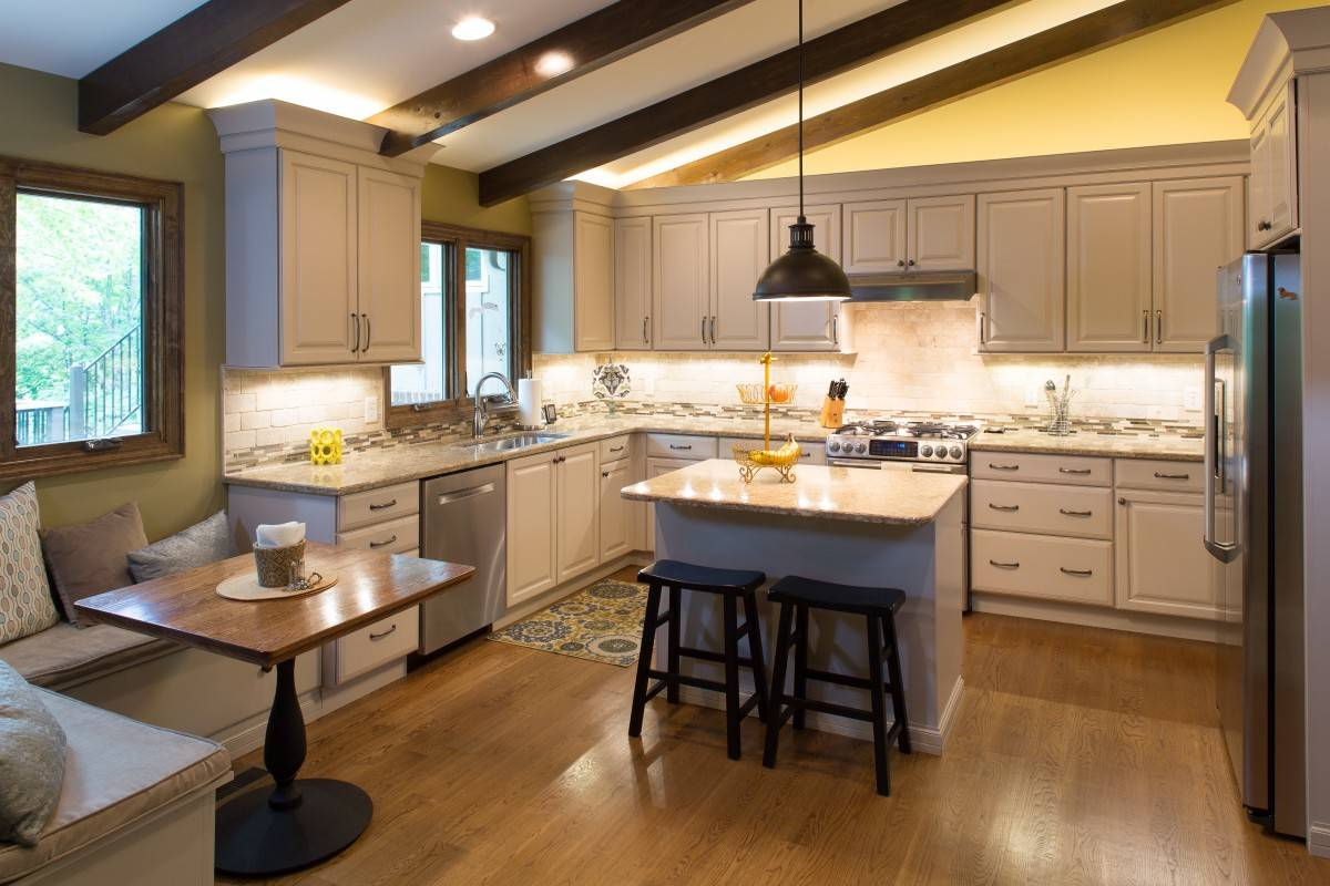 Kitchen remodel in showplace wood products standard for Typical kitchen