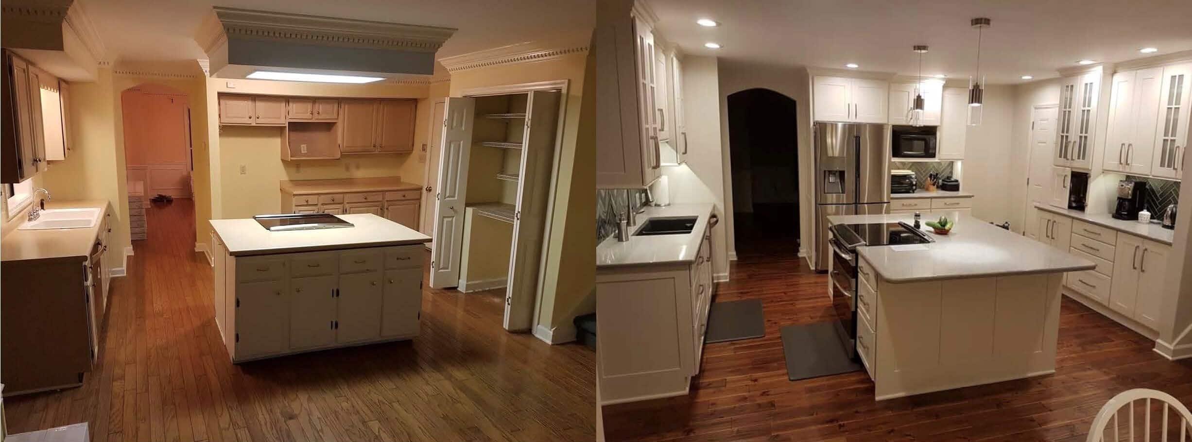 Standard kitchen bath showplace kitchen transformation for Typical kitchen