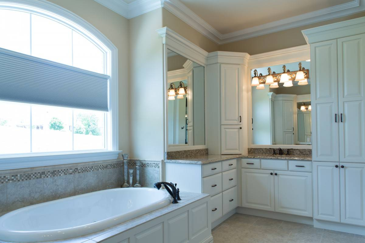 Showplace master bathroom in soft cream bathroom for Bath remodel knoxville