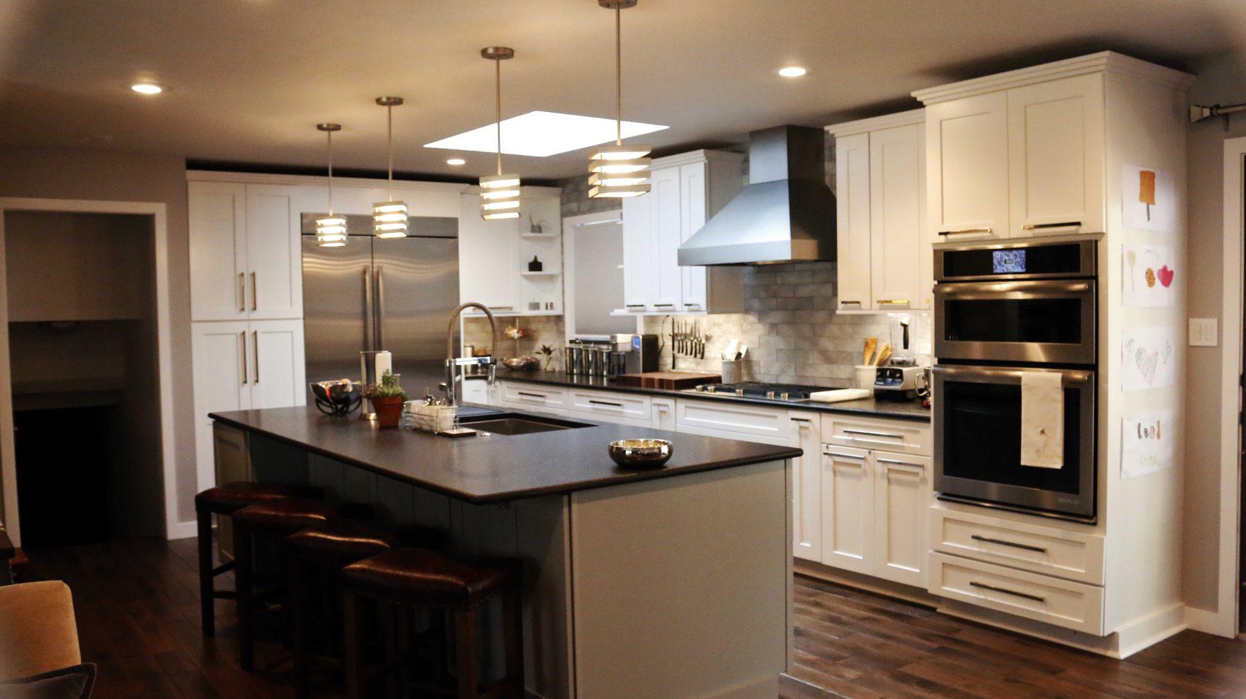 Standard kitchen bath waypoint white kitchen for Typical kitchen