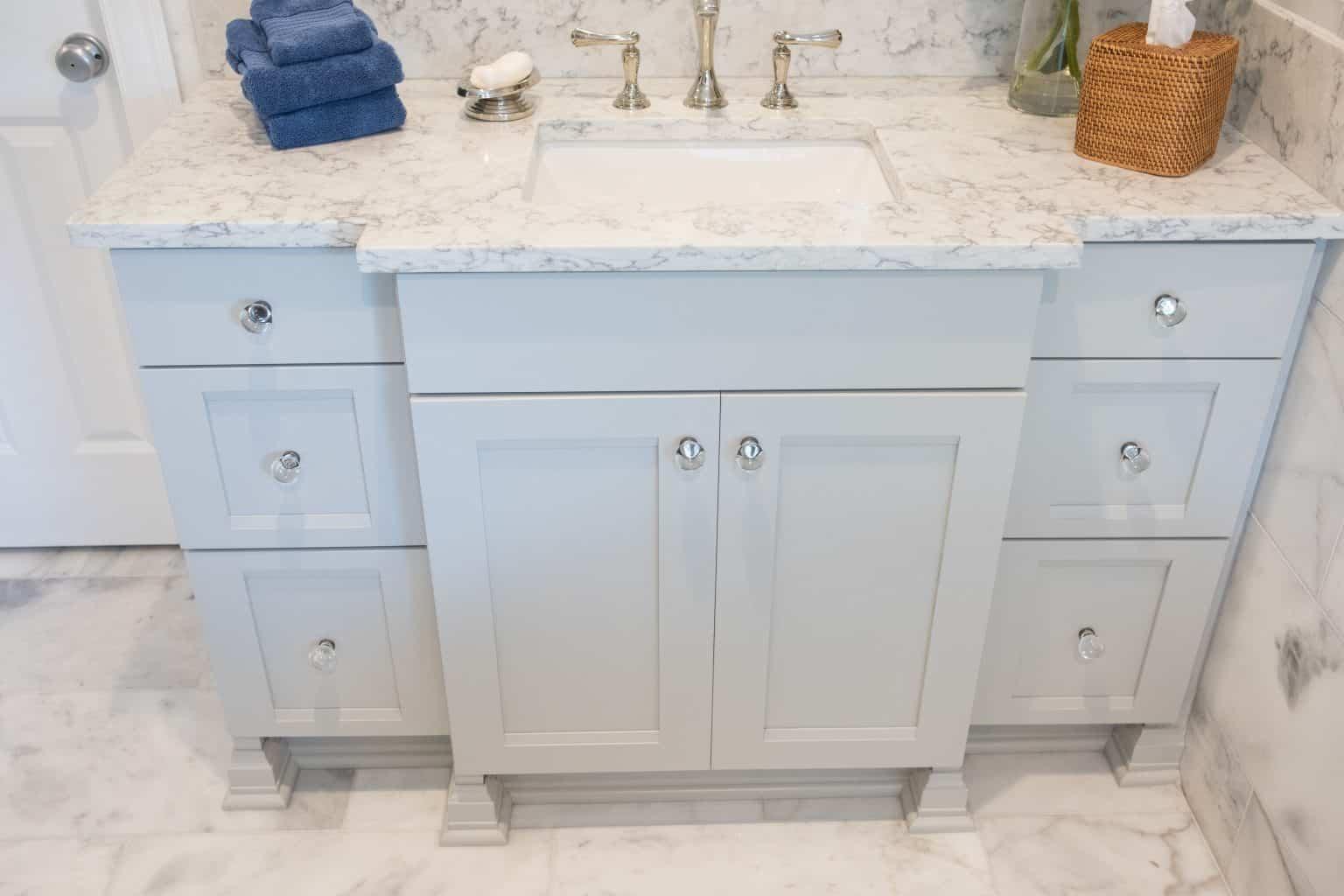 Standard Kitchen & Bath | Showplace Gun Smoke Grey Master Bathroom ...
